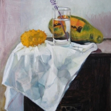 Study of fruit and glass
