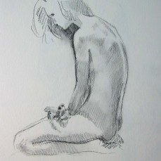 """14"""" X 11"""", Charcoal on Sketchpaper"""