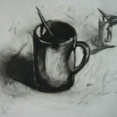 Mug with pencil study