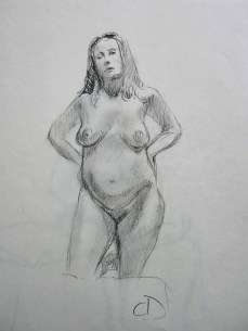 """10"""" X 14"""" Charcoal on Sketchpaper"""