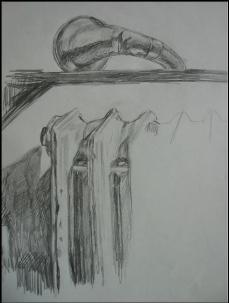 Study of brass horn and radiator