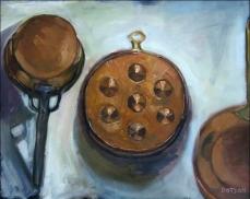 Copper Pots, 1995 - SOLD