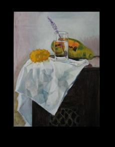 Glass refraction and fruit - SOLD