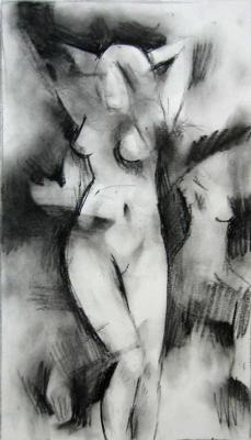 Woman sketched from imagination
