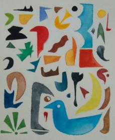 "Small wonders, watercolor 6"" x 5"" 2014"